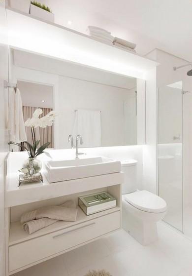 Banheiro Planejado Apartamento Suzano - Banheiro Planejado Madeira