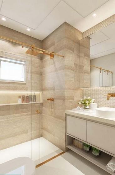 Banheiro Planejado com Box Preço São Paulo - Banheiro Planejado Madeira
