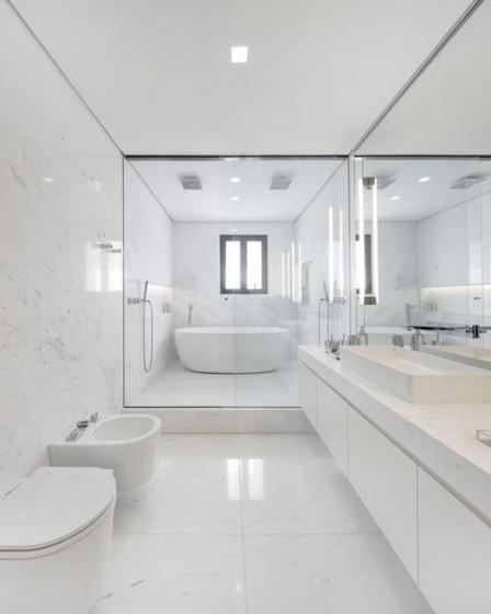 Banheiro Planejado com Box Poá - Banheiro Planejado Grande