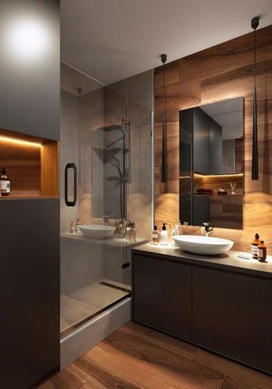 Banheiro Planejado com Cuba Preço Arujá - Banheiro Planejado Moderno Pequeno