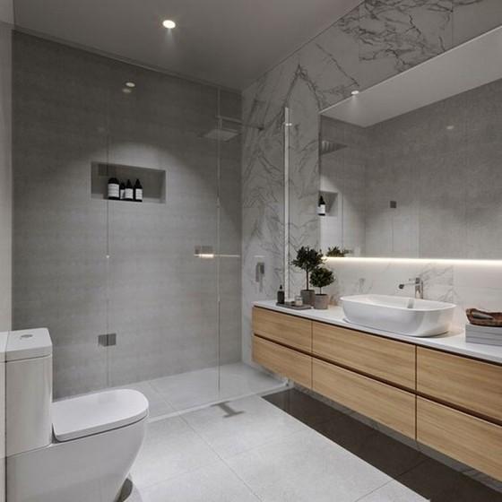 Banheiro Planejado com Espelho Preço Guarulhos - Banheiro Planejado Apartamento
