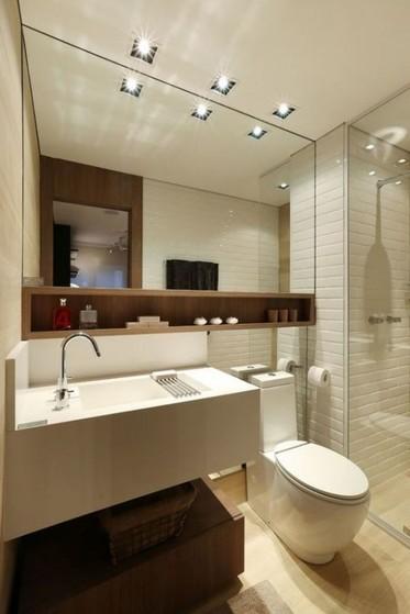 Banheiro Planejado com Espelho Guarulhos - Banheiro Planejado para Apartamento Pequeno