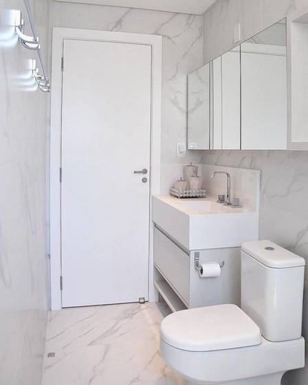 Banheiro Planejado de Apartamento Preço Arujá - Banheiro Planejado Madeira