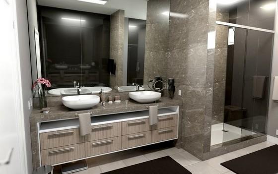 Banheiro Planejado Grande Guarulhos - Banheiro Planejado com Box