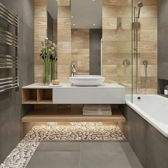 Banheiro Planejado Madeira Preço Poá - Banheiro Planejado com Espelho