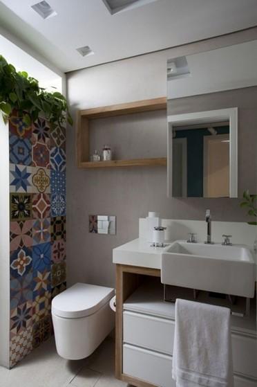 Banheiro Planejado para Apartamento Pequeno Suzano - Banheiro Planejado com Cuba