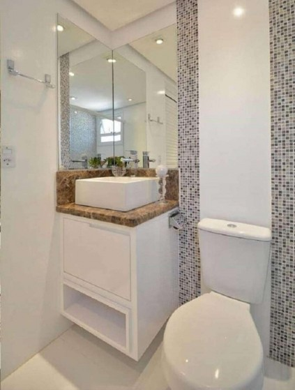 Banheiro Planejado Pequeno Preço Riviera de São Lourenço - Banheiro Planejado Simples