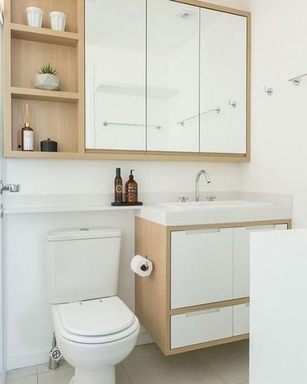 Banheiro Planejado Pequeno Bertioga - Banheiro Planejado para Espaço Pequeno