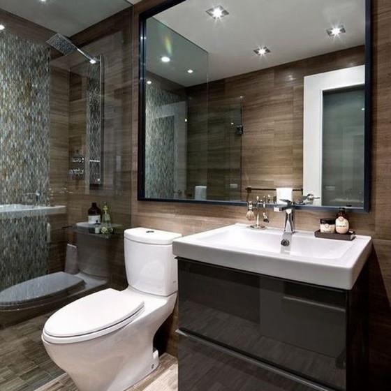 Banheiros Planejados com Box Arujá - Banheiro Planejado Moderno Pequeno