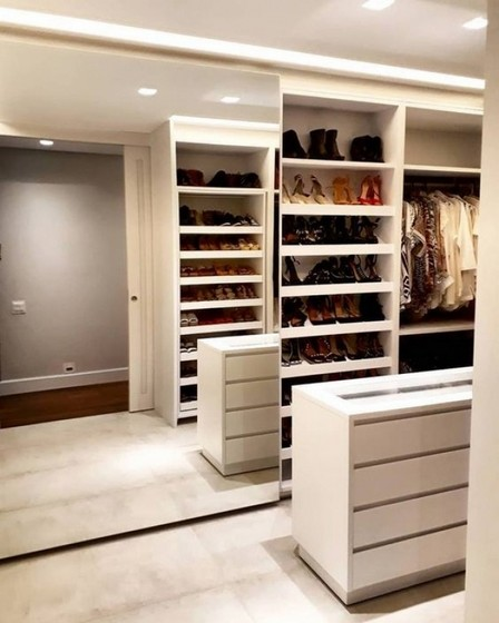 Closet Planejado com Sapateira Preço Suzano - Closet Planejado com Sapateira