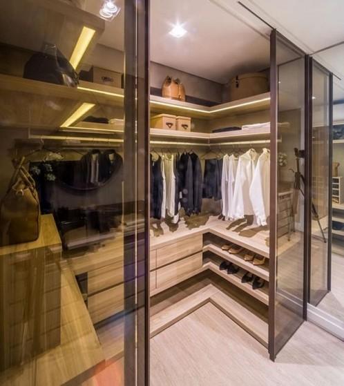 Closet Planejado Fechado Preço Riviera de São Lourenço - Closet Planejado em Madeira