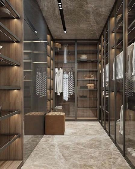 Closet Planejado Fechado Zona Leste - Closet Planejado com Sapateira