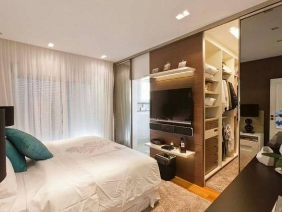 Closet Planejado Pequeno Simples Poá - Closet Planejado de Móveis