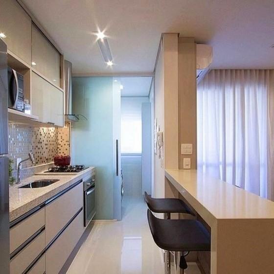 Cozinha Planejada de Apartamento Bertioga - Cozinha Planejada de Blindex
