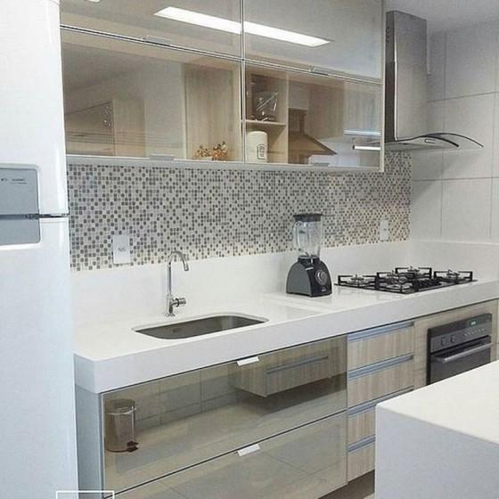 Cozinha Planejada de Blindex Preço Arujá - Cozinha Planejada Apto