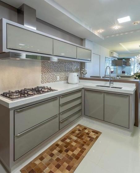 Cozinha Planejada de Canto Preço Alphaville - Cozinha Planejada Apartamento