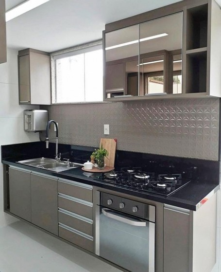 Cozinha Planejada Pequena Preço Bertioga - Cozinha Planejada Apto