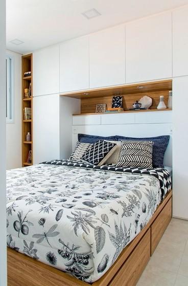 Dormitório Casal Planejado Pequeno Poá - Dormitório Planejado Casal