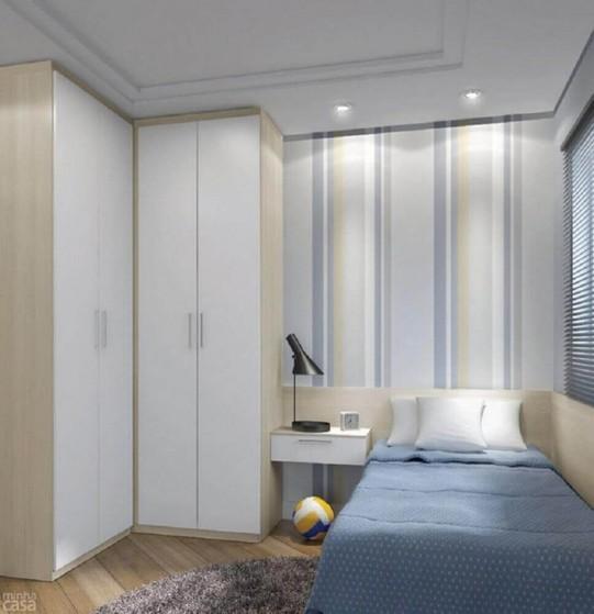 Dormitório Planejado de Solteiro Preço Guarulhos - Dormitório Casal Planejado Pequeno