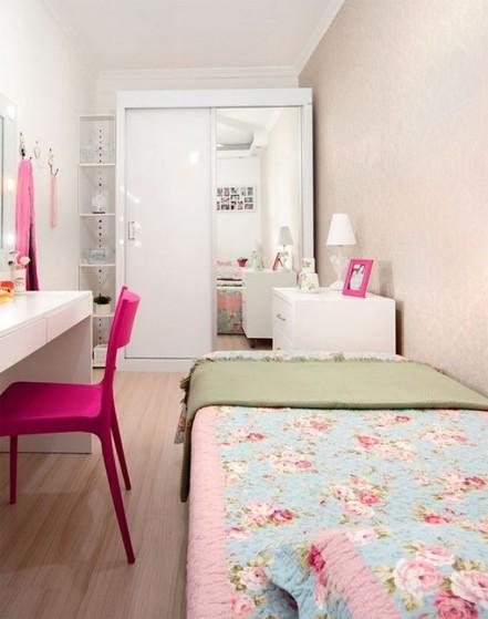 Dormitório Planejado Solteiro Feminino Preço Poá - Dormitório Casal Planejado Pequeno