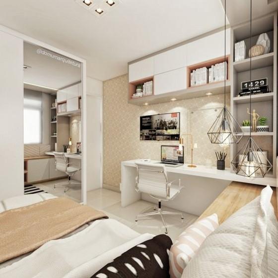 Dormitórios Planejados Solteiro Feminino Riviera de São Lourenço - Dormitório Planejados Móveis