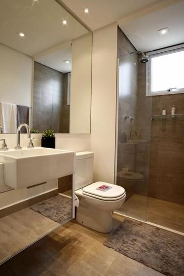 Onde Encontro Banheiro Planejado com Box Bertioga - Banheiro Planejado com Espelho