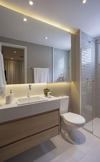 Onde Encontro Banheiro Planejado Madeira Arujá - Banheiro Planejado com Espelho