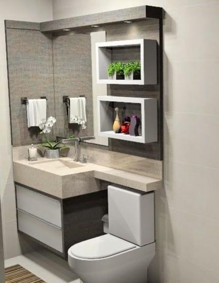 Onde Encontro Banheiro Planejado Moderno Pequeno Arujá - Banheiro Planejado com Espelho