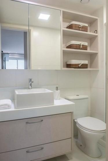 Onde Encontro Banheiro Planejado para Apartamento Pequeno Bertioga - Banheiro Planejado com Box