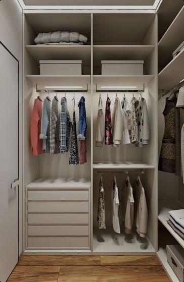 Onde Encontro Closet Planejado para Apartamento São José dos Campos - Closet Planejado com Espelho