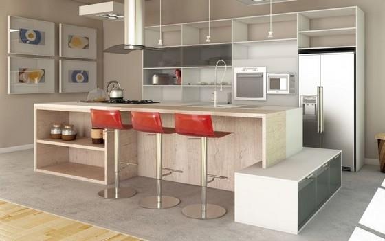 Onde Encontro Cozinha Planejada Moderna Poá - Cozinha Planejada Amadeirada