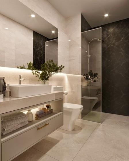 Quanto Custa Banheiro Planejado com Cuba Mogi das Cruzes - Banheiro Planejado Grande