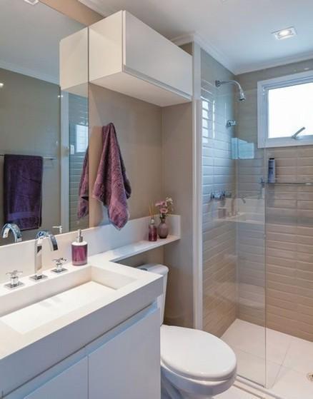 Quanto Custa Banheiro Planejado Moderno Pequeno Guarulhos - Banheiro Planejado Grande