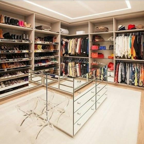 Quanto Custa Closet Planejado com Sapateira Poá - Closet Planejado com Espelho