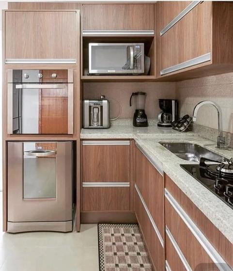 Quanto Custa Cozinha Planejada Amadeirada Poá - Cozinha Planejada com Ilha