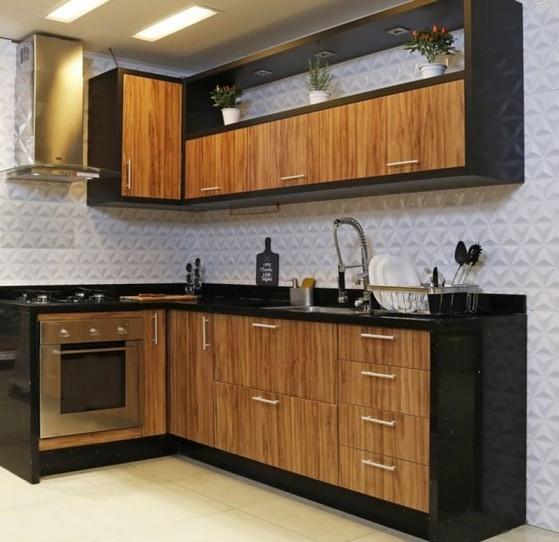 Quanto Custa Cozinha Planejada de Madeira Suzano - Cozinha Planejada Amadeirada