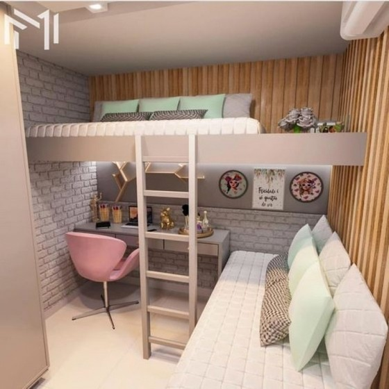 Quartos Planejados Apartamento Zona Leste - Quarto Planejado com Duas Camas