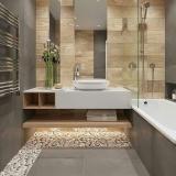 banheiro planejado madeira