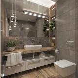 banheiro planejado com cuba Riviera de São Lourenço