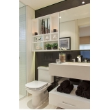banheiro planejado moderno pequeno preço Riviera de São Lourenço