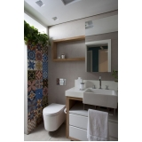 banheiro planejado para apartamento pequeno Poá