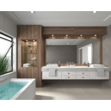 banheiros planejados com cuba Bertioga