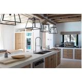cozinha planejada de alvenaria Suzano