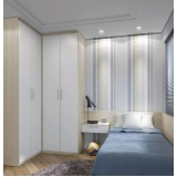dormitório planejado de solteiro preço Poá
