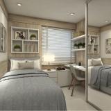 dormitório planejado solteiro masculino Riviera de São Lourenço