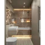 onde encontro banheiro planejado com cuba Riviera de São Lourenço