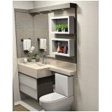 onde encontro banheiro planejado moderno pequeno Suzano