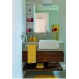 quanto custa banheiro planejado para apartamento pequeno Alphaville