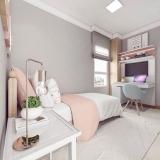 quanto custa dormitório planejado solteiro feminino Riviera de São Lourenço