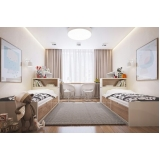 quarto planejado com duas camas Riviera de São Lourenço
